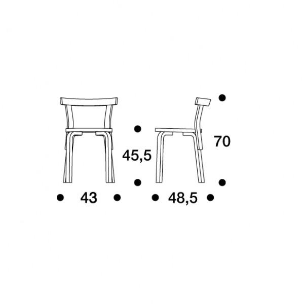 68 tuoli Artek Alvar Aalto