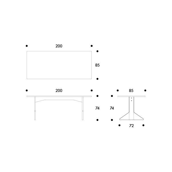 REB 001 kaari pöytä Artek Bouroullec