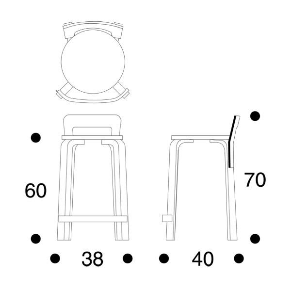 k65 tuoli artek alvar aalto
