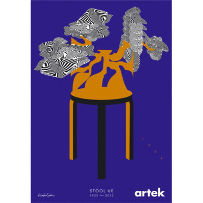 Stool 60 jakkara juliste Artek