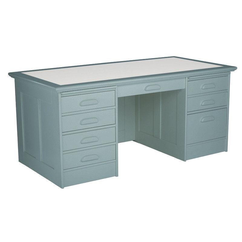 Boknäs johtajan kirjoituspöytä sininen
