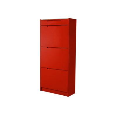 Interstil Oslo kenkäkaappi punainen