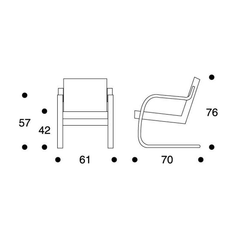 Artek 402 nojatuoli Alvar Aalto