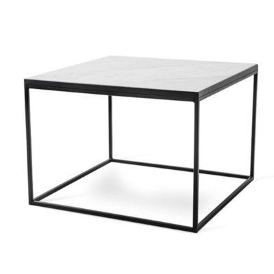 Torkelson Bergen 70x70 sohvapöytä valkoinen musta