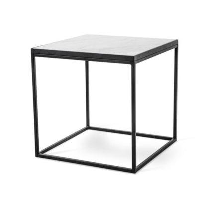 Torkelson Bergen sohvapöytä 50x50 musta valkoinen