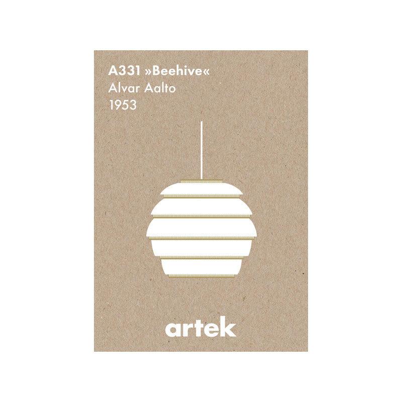 a331 beehive mehiläispesä greige juliste artek
