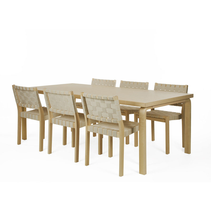 Artek pöytä satulavyö penkki tuoli 86 Alvar Aalto