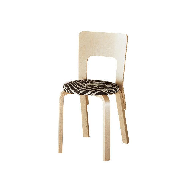 Artek 66 tuoli zebra Alvar Aalto
