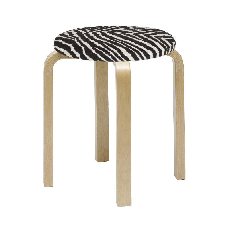 Artek E60 jakkara koivu zebra Alvar Aalto