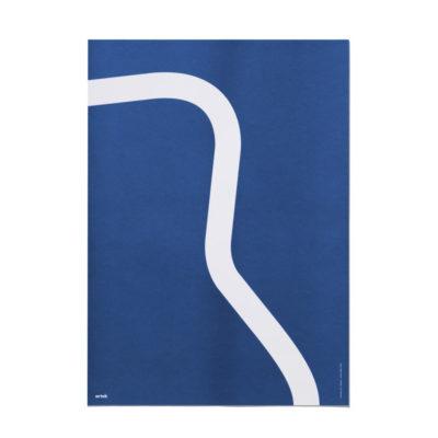 Artek Outline nojatuoli 41 juliste sininen