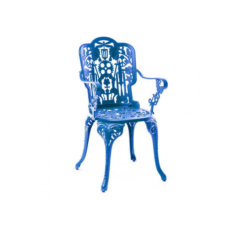 Seletti Industry käsinojatuoli sininen